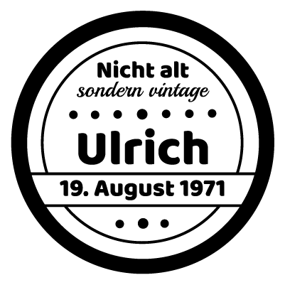 Birthdaystamp vertikal