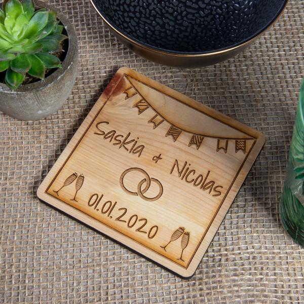 Holz Untersetzer-Set aus Zirbe