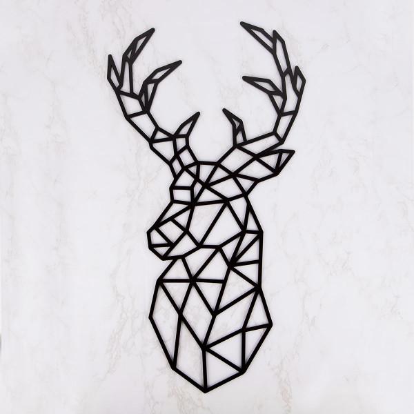 """Wanddekoration """"Geometrischer Hirsch"""" aus Acryl"""