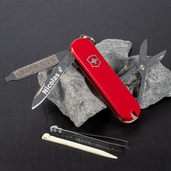 """Schweizer Taschenmesser Victorinox® """"Classic SD"""" mit Gravur"""