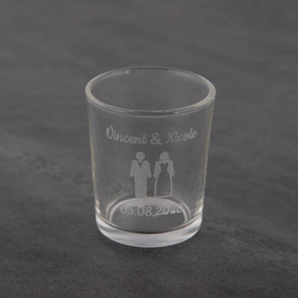 Kerzenglas mit Gravur