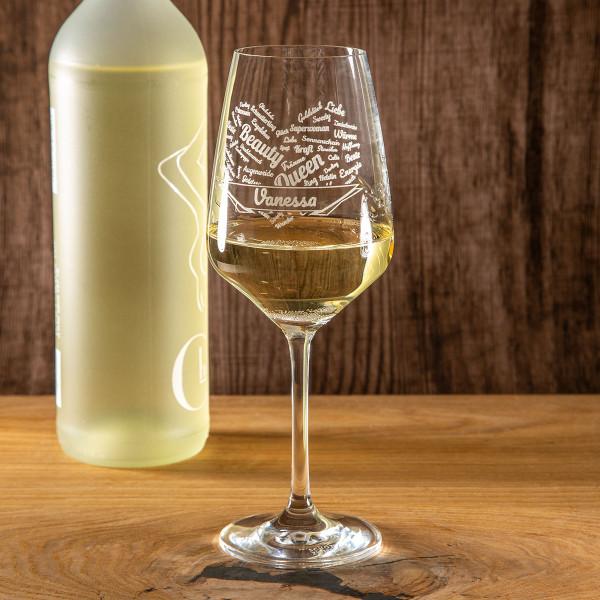 """Weißweinglas mit Gravur """"Loire"""""""