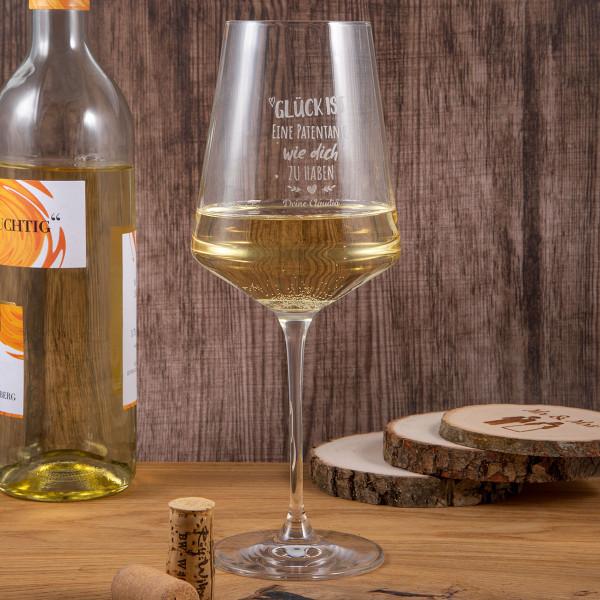 "LEONARDO Weißweinglas mit Gravur ""Puccini"""