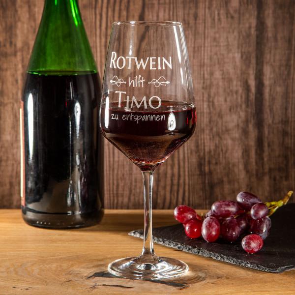 """Rotweinglas mit Gravur """"Burgund"""""""