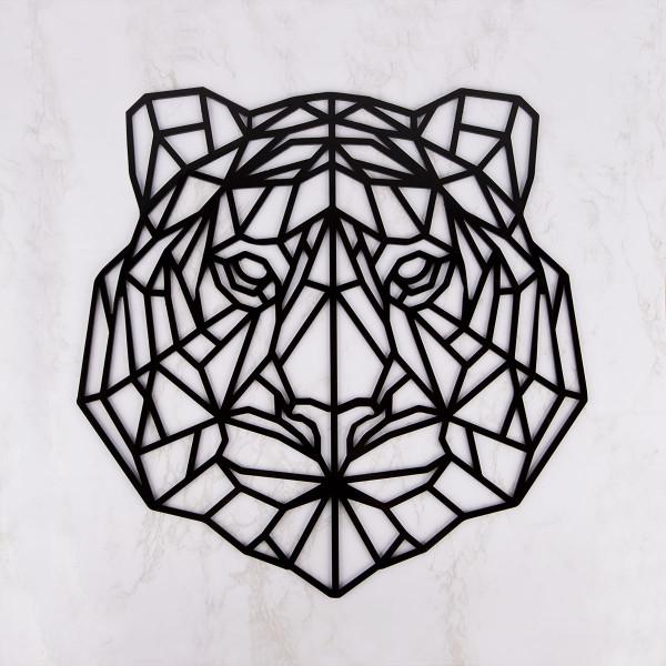 """Wanddekoration """"Geometrischer Tiger"""" aus Acryl"""