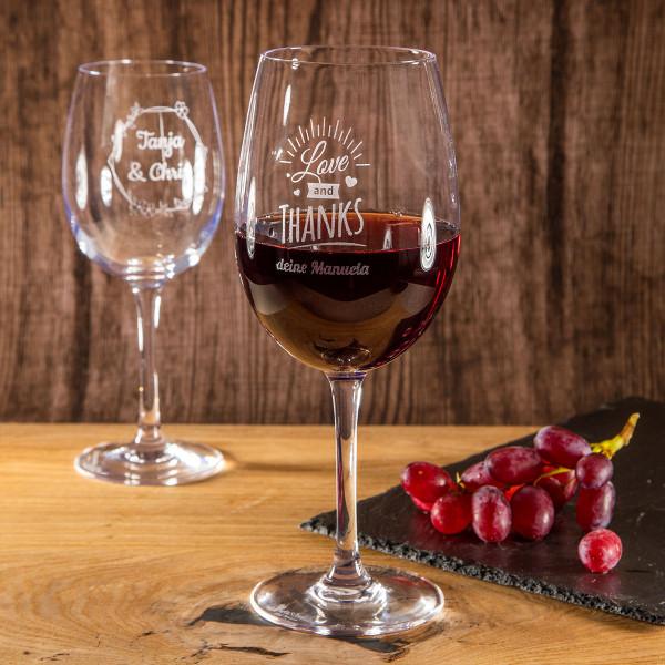 """Rotweinglas mit Gravur """"Bordeaux"""""""