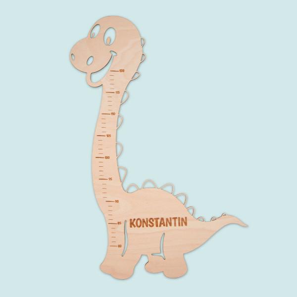 """Messlatte für Kinder """"Dino"""" mit Personalisierung"""