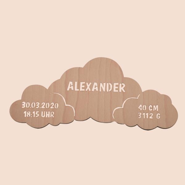 """Nachtlicht """"Wolken"""" mit Personalisierung"""