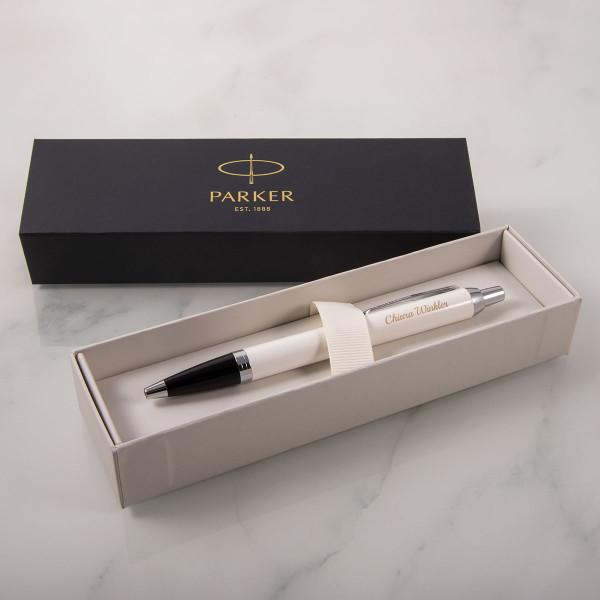 PARKER Kugelschreiber mit Gravur - IM White Lacquer