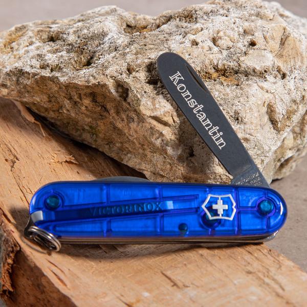 """Kindertaschenmesser mit Gravur """"My first Victorinox®"""" (Blau)"""