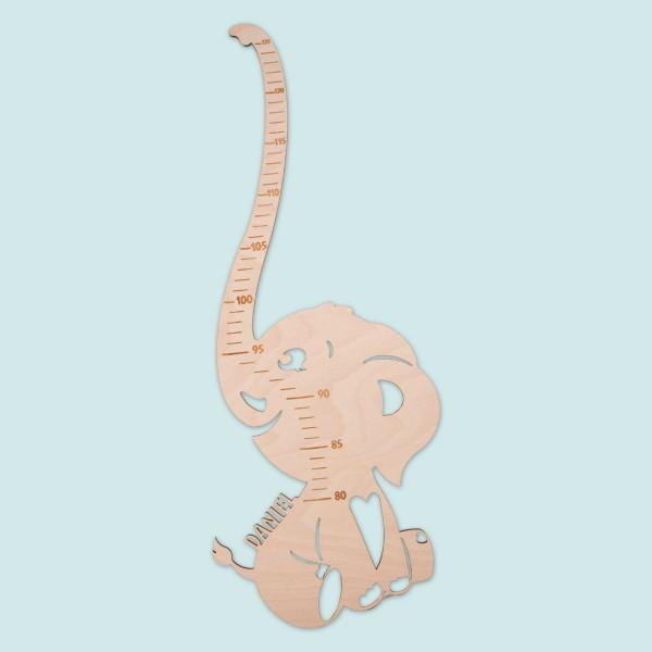 """Messlatte für Kinder """"Elefant"""" mit Personalisierung"""
