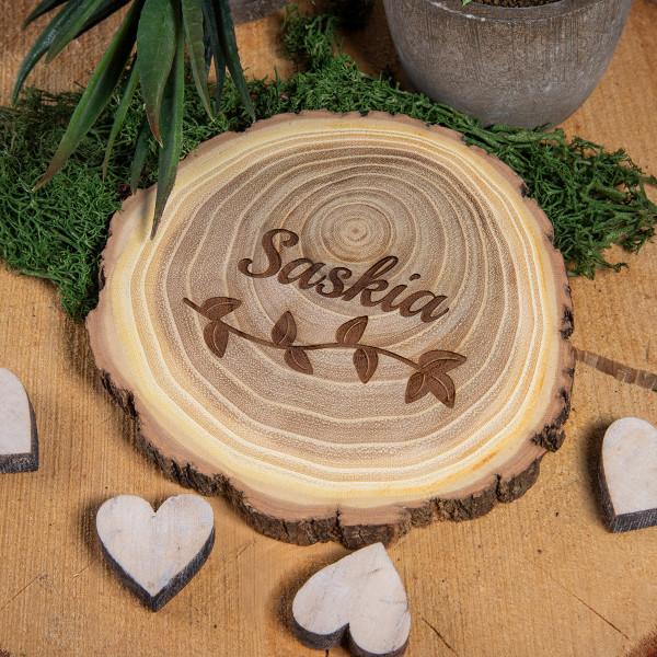 Holz Untersetzer-Set aus Akazie (7-10 cm)