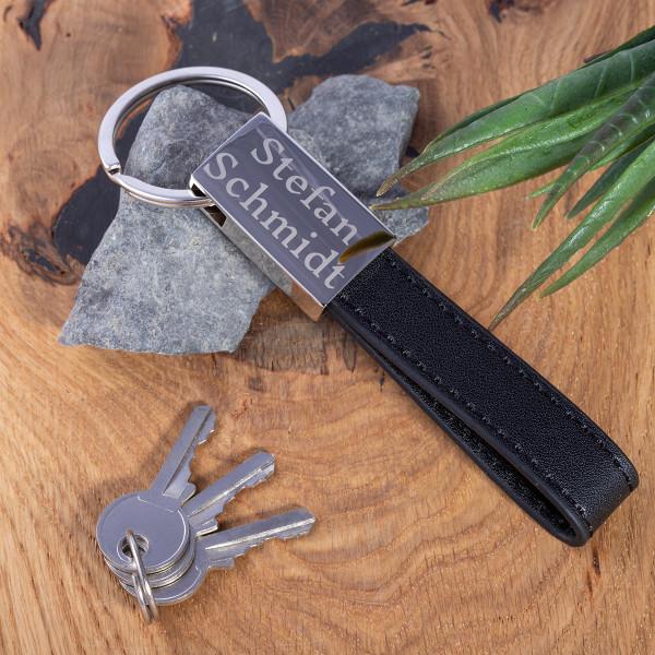 """Schlüsselanhänger mit Leder und Gravur """"Miami"""""""