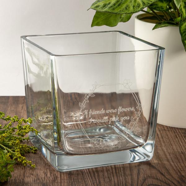 """Kleine Vase mit Gravur """"Lilly"""""""
