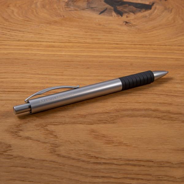 FABER CASTELL Kugelschreiber mit Gravur - Essentio silber matt