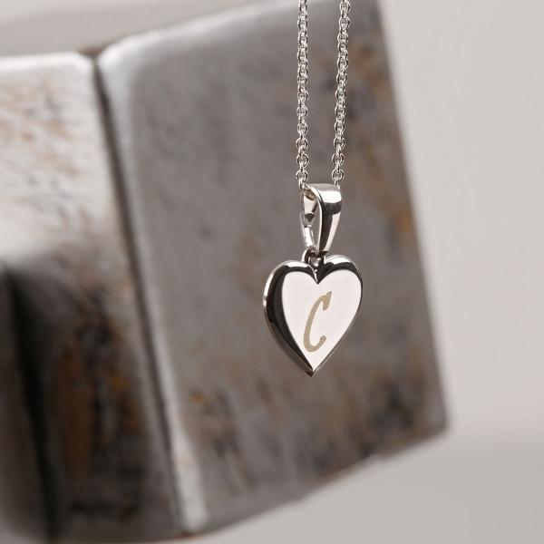 Kleiner Herz Anhänger mit Gravur - 925 Silber