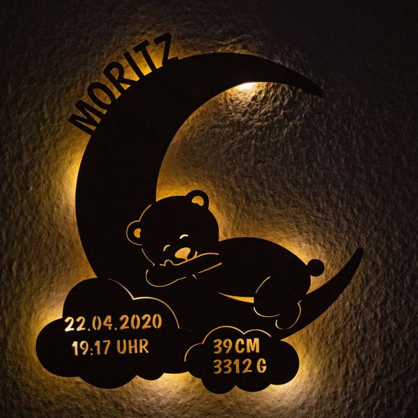 """Nachtlicht """"Mond mit Teddy"""""""