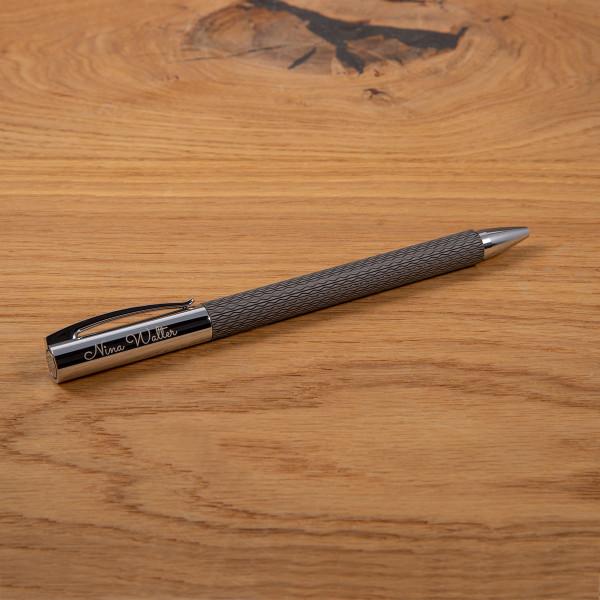 FABER CASTELL Kugelschreiber mit Gravur - AMBITION OpArt Black Sand