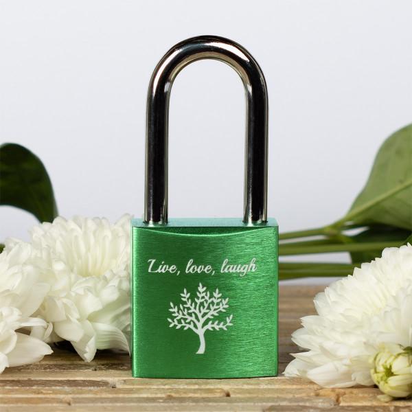 Liebesschloss Grün