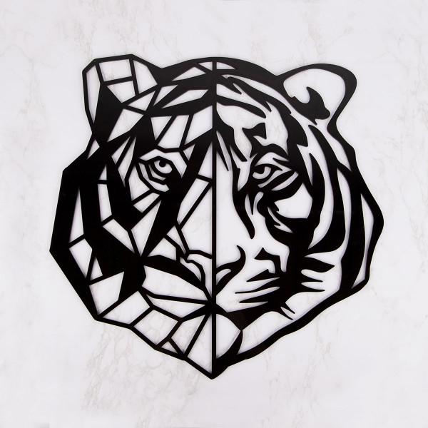 """Wanddekoration """"Tiger mit Streifen"""" aus Acryl"""