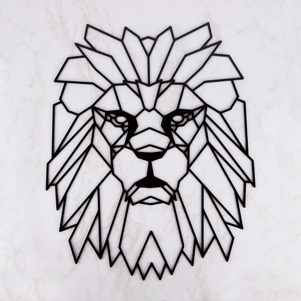 """Wanddekoration """"Geometrischer Löwe"""" aus Acryl"""