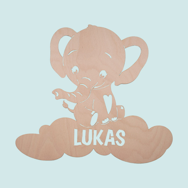 """Nachtlicht """"Baby Elefant"""" mit Personalisierung"""